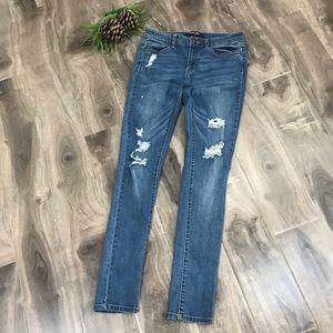 WAX JEAN skinny distressed jeans